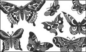 butterfly brushes 50 sets of decorative images