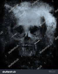 black scary halloween background scary grunge skull wallpaper halloween background stock