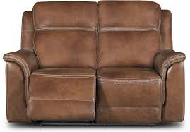 pacific oak brown leather match power reclining sofa u0026 loveseat