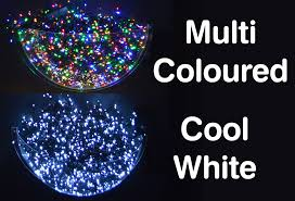 200 led 14m static outdoor tree lights in cool white