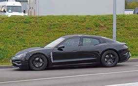 porsche electric porsche mission e electric sedan photographed for the first time