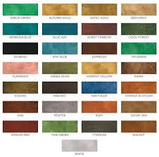 Concrete Stain Colors For Patios Eco Stain Concrete Stain Water Based Color Chart Kitchen