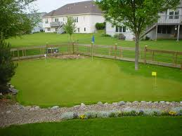 putting green in backyard cost backyard and yard design for village