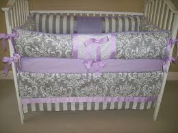 Pink And Gray Nursery Bedding Sets by Bedroom Purple And Lavender Crib Bedding Set On White Stained