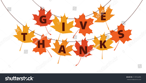 give thanks text on autumn leaves stock vector 313744490
