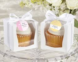 baby shower favor boxes personalized white cupcake boxes baby favors by kate aspen