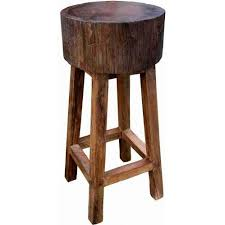 30 Inch Bar Stool Groovystuff Teak Wood Stump Bar Stool 30 Inch Tf 267 30