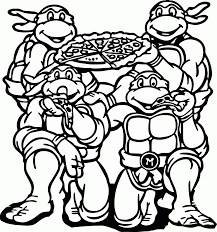 free tmnt coloring pages to print coloring home