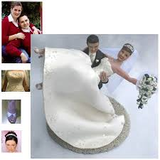 custom wedding cake toppers customized wedding cake toppers and groom wedding