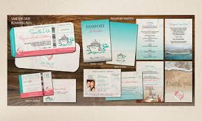 cruise wedding invitations cruise wedding invitation set all aboard save the date