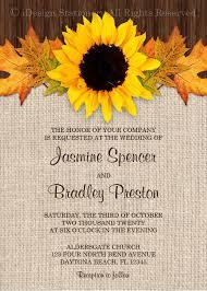 sunflower wedding invitation template u2013 sample example format
