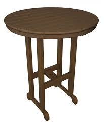 polywood 36 inch round bar table