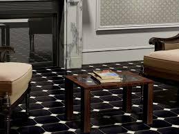 unique black ceramic floor tile designs for elegant living room