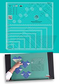 creative grids non slip ultimate flying geese template and quilt ruler