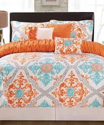 orange and gray bedding sets 11985