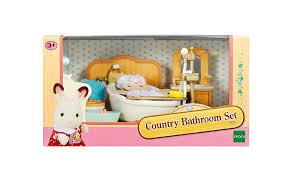 Sylvanian Families Country Bathroom Set Kids George At ASDA - Sylvanian families luxury living room set