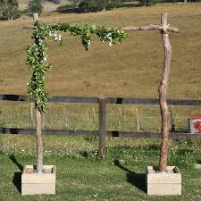 wedding arches nz tea tree archway with crates maree co