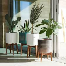 Wall Planters Indoor by Mid Century Turned Leg Planters From West Elm 149 Interior