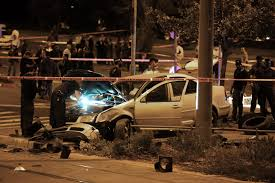wrecked car terrorist u0027 rams car into jerusalem crowd killing baby