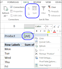 Sort A Pivot Table Sort Items In Excel Pivot Table Report Filter Excel Pivot