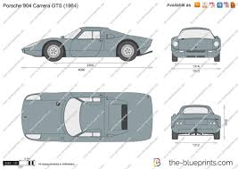 porsche 904 rear the blueprints com vector drawing porsche 904 carrera gts