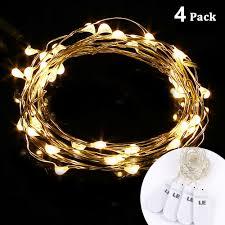 Battery Run Fairy Lights 20 leds led string battery 1m copper wire light 4 packs le