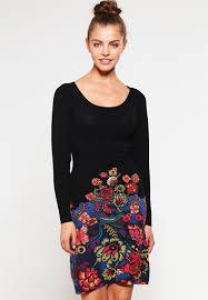 desigual designer desigual martina jumper dress black knitted dresses desigual