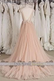 blush wedding dress with sleeves blush cap sleeve illusion neckline backless lace tulle wedding