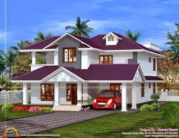 home design beautiful house plan in purple roof kerala home