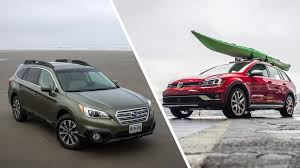 modded subaru outback 2017 volkswagen golf alltrack vs subaru outback by the numbers