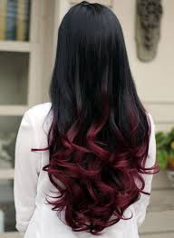 ambry on black hair ombre black maroon super natural non shiny look like real hair