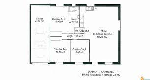 plan maison 3 chambres plain pied garage plan maison plain pied 3 chambres avec garage frais plan maison 90m2