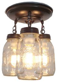 Traditional Ceiling Light Fixtures Brilliant Jar Light Fixture Trio Of New Quarts Traditional