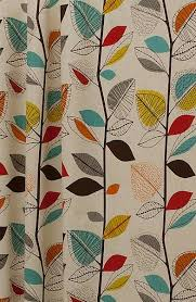 Coloured Curtains Autumn Leaves Cinnamon Made To Measure Curtains