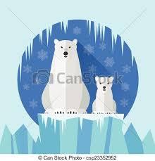 polar bear flat antarctica polar bear baby polar
