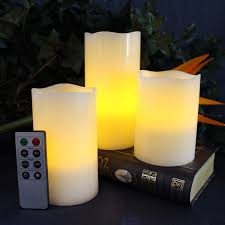 slim flameless candles with remote candles decoration