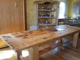rectangular pine dining table dining room epic rustic dining room furnishing decoration using