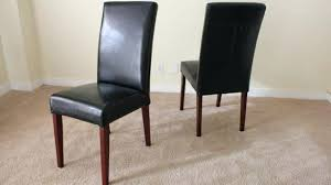 Leather Parson Dining Chairs Leather Parsons Dining Chair Salevbags