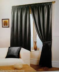 Black Curtains 90x90 Changingbedrooms Com Black Waffle Effect Tape Top Curtains 90x90