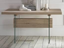 Schreibtisch Glas Schreibtisch Konsole Aus Eichenholz Und Glas