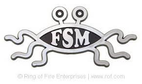 molded abs flying spaghetti car emblem