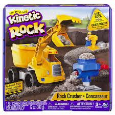amazon com kinetic rock rock crusher playset toys u0026 games
