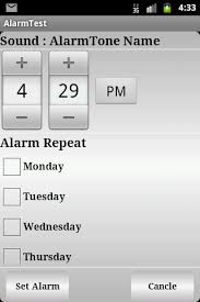 how to set alarm on android how can i set weekly repeat alarm in android