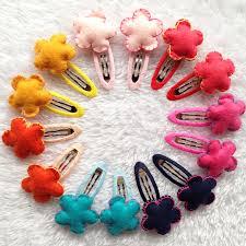 kids hair accessories online shop 20pcs lot 3d flannel sunflowers hairpins for