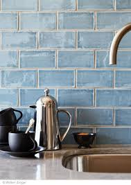 blue kitchen tiles beautiful blue handmade tile backsplash cafe collection 3 x6 subway