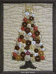 ulla u0027s quilt world christmas tree quilt yoyo quilting