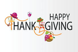 flat design style happy thanksgiving day logotype badge and