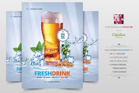 fresh drink promotion flyer poster flyer templates creative