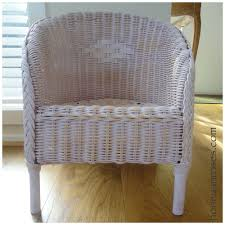 How To Fix Wicker Patio Furniture by How To Paint A Wicker Chair With Chalk Paint Honey U0026 Roses
