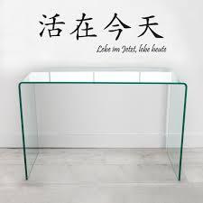 Schreibtisch Glas Cagü Design Schreibtisch Mayfair Glas 100cm X 35cm Amazon De